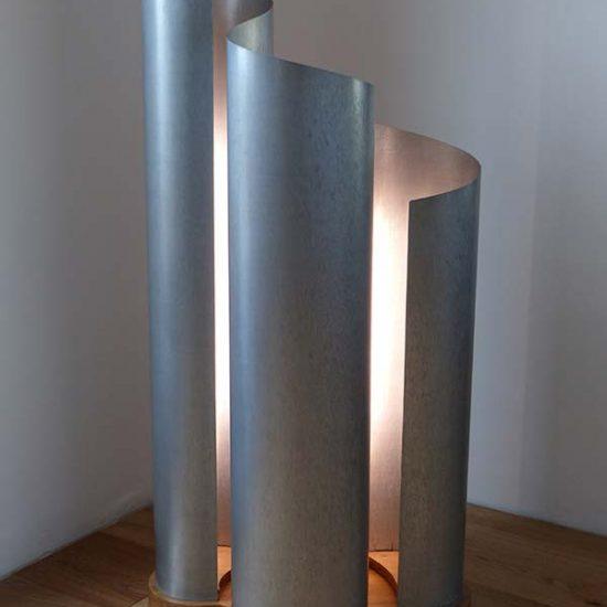 sculpture-lampe-zinc_ondulations